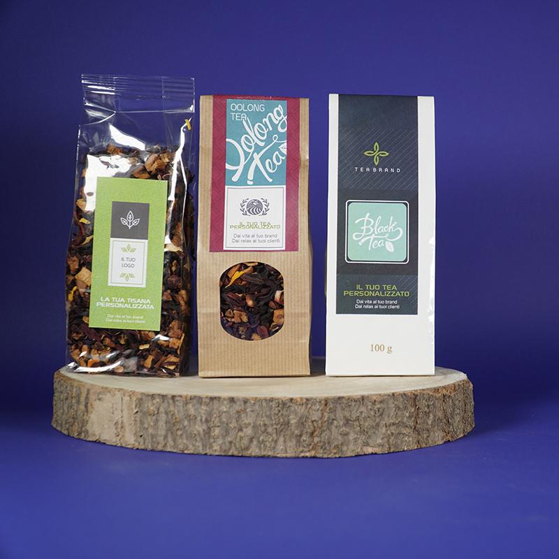 saccheti tea personalizzato
