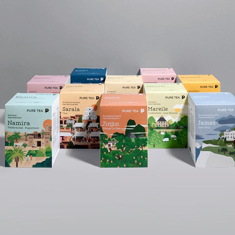 scatole tea personalizzato
