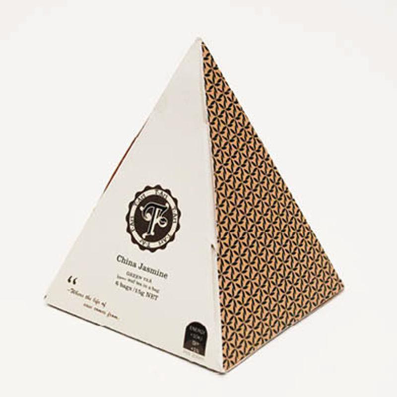 infusi scatole cartone piramide personalizzate